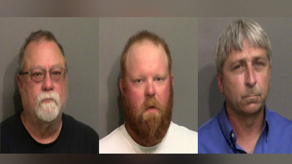 """Greg McMichael (left), Travis McMichael (center) and William """"Roddie"""" Bryan (right) have been charged in the slaying of Ahmaud Arbery. Arbery was killed while running in a Georgia neighborhood in February. (Source: Glynn County Sheriff's Office)"""