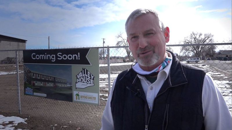 Valley House Executive Director John Spiers stands near where the Twin Falls homeless shelter...